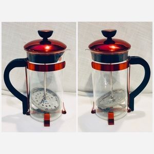 Other - Red Metallic French Coffee Press New NWOB